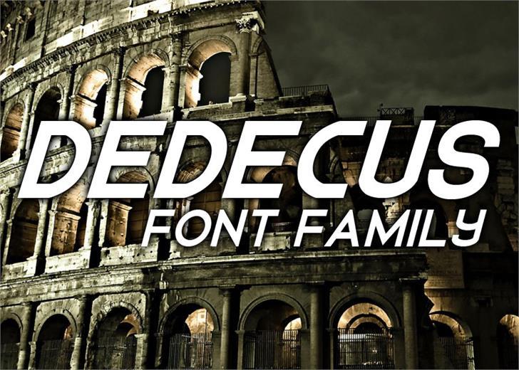 Dedecus font by Font Monger