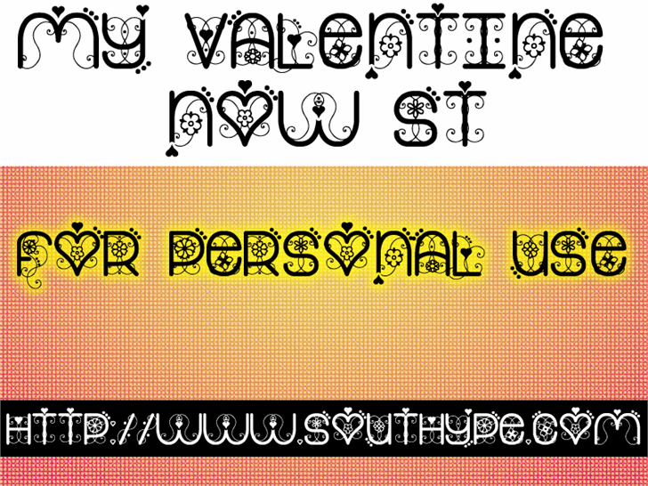 My Valentine Now St font by Southype