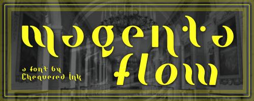 Image for Magenta Flow font