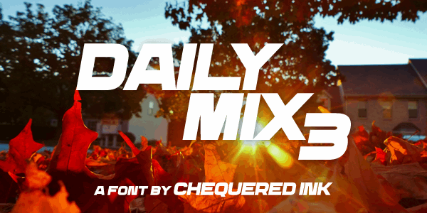Image for Daily Mix 3 font