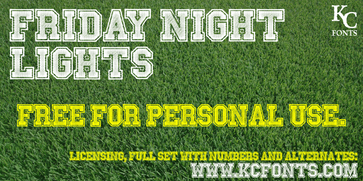 Image for Friday Night Lights font