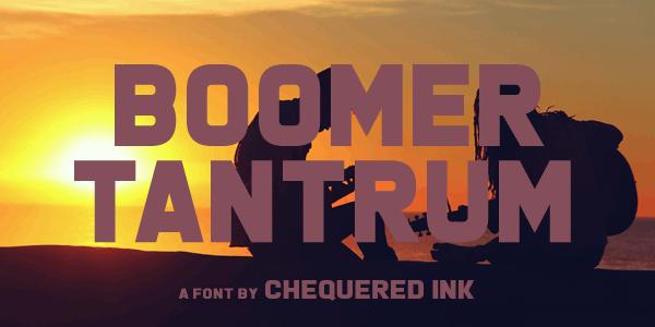 Image for Boomer Tantrum font