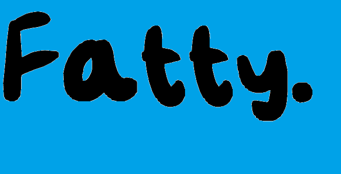 Fatty font by SprayOnDog