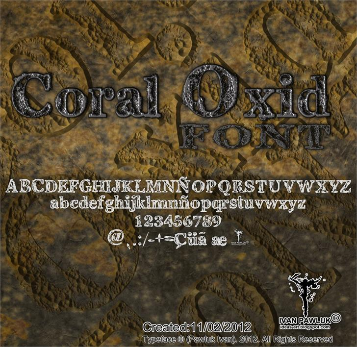 Coral Oxid font by Pawluk Ivan