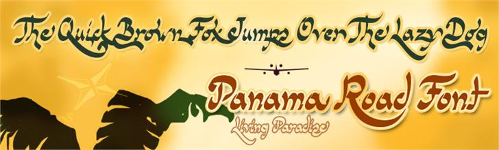 Panama Road font by deFharo