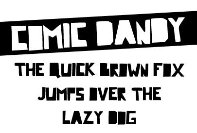 Image for Comic Dandy font