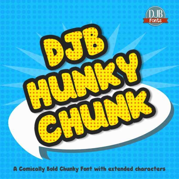 Image for DJB HUNKY CHUNK font