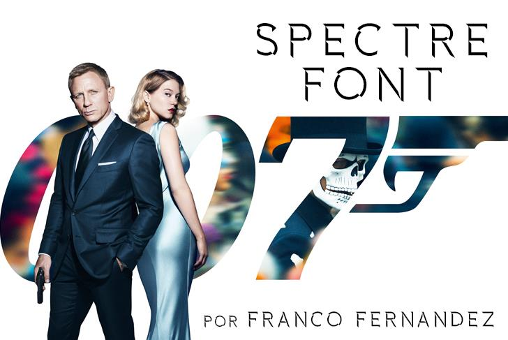 Image for Spectre 007 font