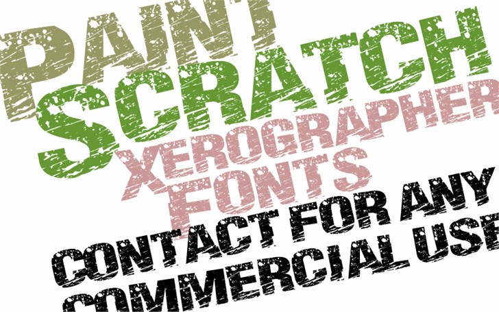PaintScratch font by Xerographer Fonts