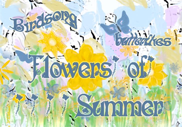 Image for Flowers of Summer font