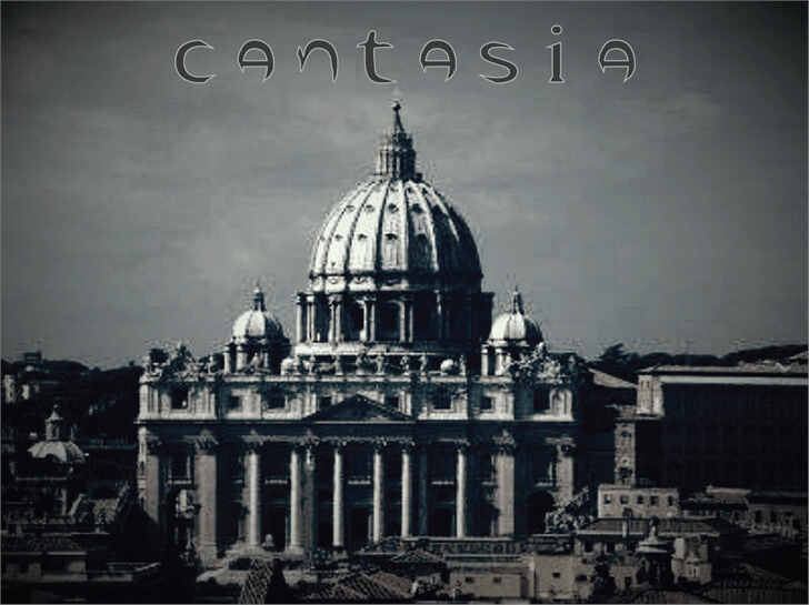 Image for cantasia font