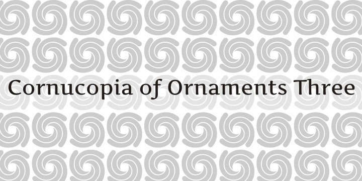 Image for Cornucopia of Ornaments Three font