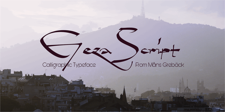 Image for Geza Script PERSONAL USE ONLY font