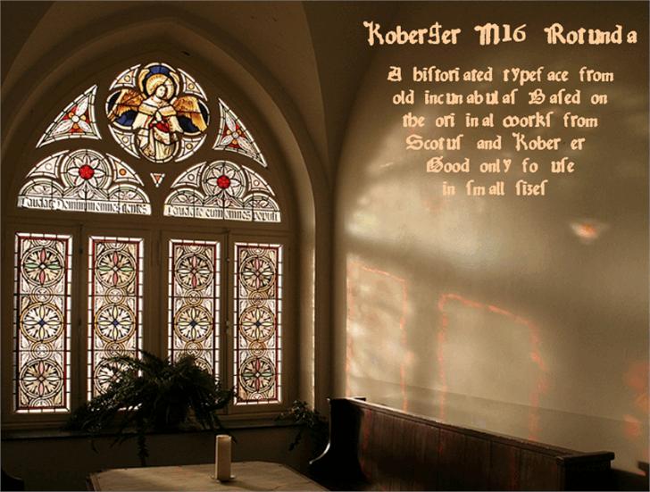 Image for KobergerN16Rotunda font