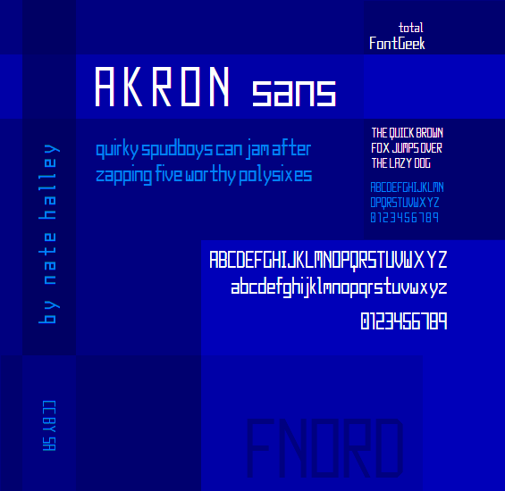 Image for Akron NBP font