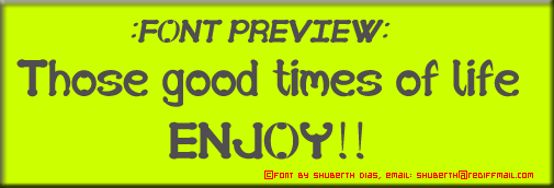 Image for SD Those good times of life font