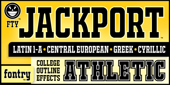 Image for JACKPORT COLLEGE NCV font