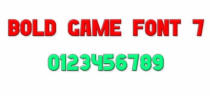 Image for Bold Game Font 7 font