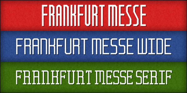Frankfurt Messe font by Chequered Ink