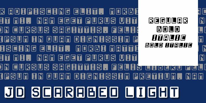 Image for JD Scarabeo Light font