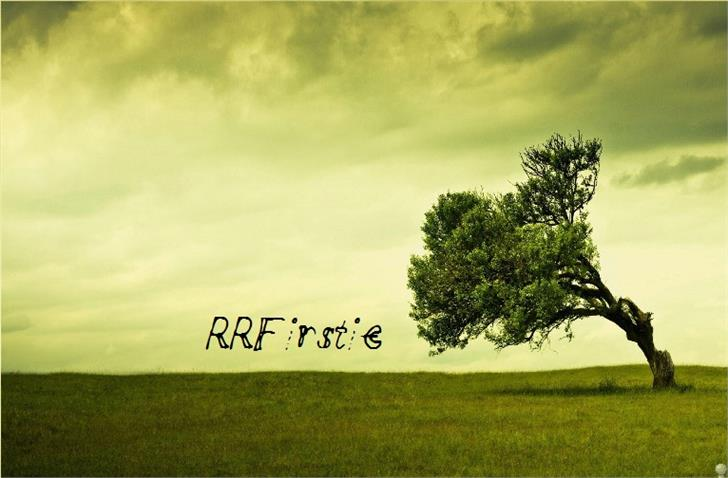 Image for RRFirstie font