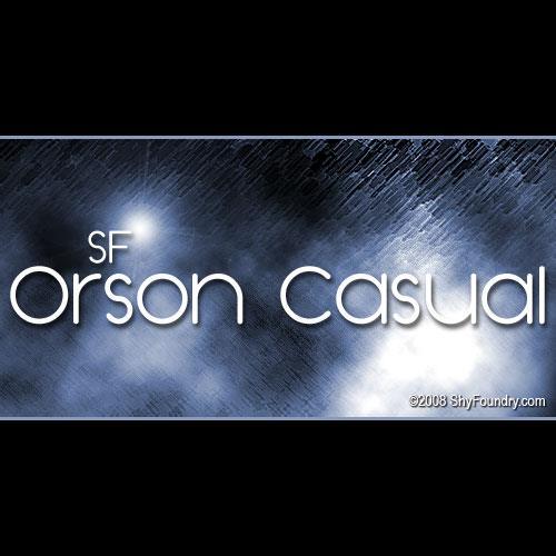 Image for SF Orson Casua font