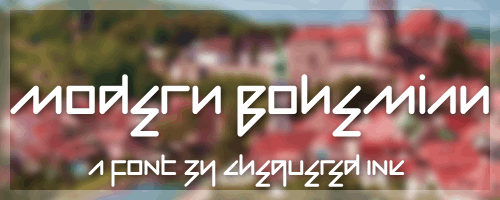 Modern Bohemian font by Chequered Ink