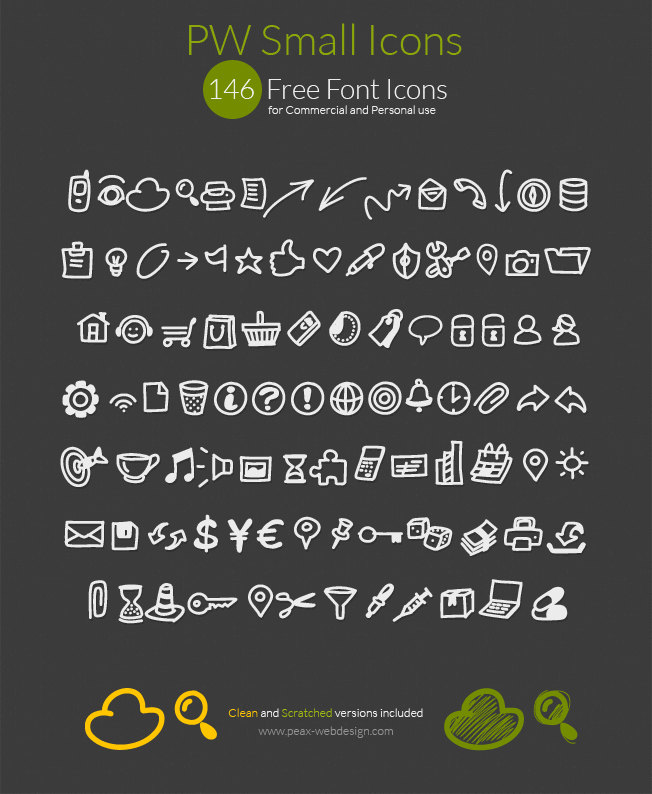 Image for PWSmallIcons font