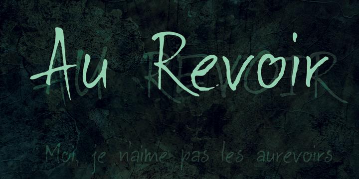 DK Au Revoir font by David Kerkhoff