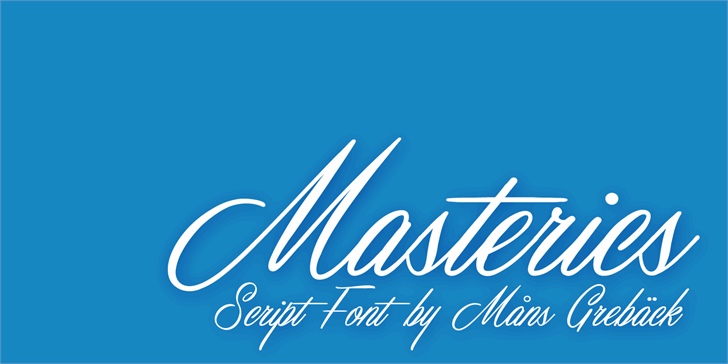 Image for Masterics Personal Use font