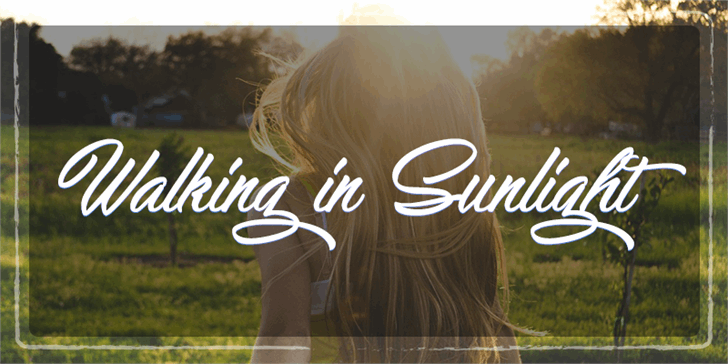 Image for Walking in Sunlight  font
