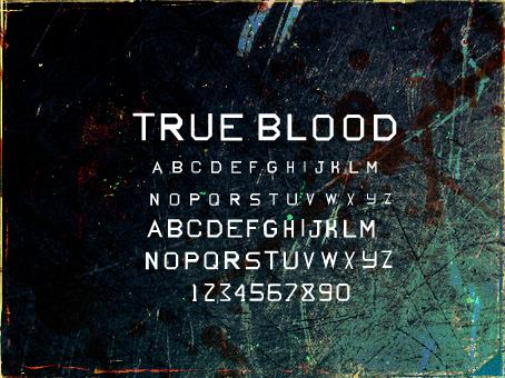Image for True Blood font