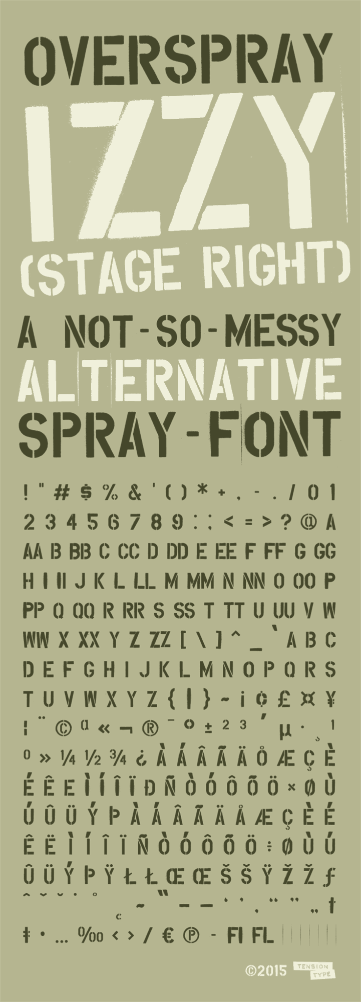 Overspray font by Tension Type