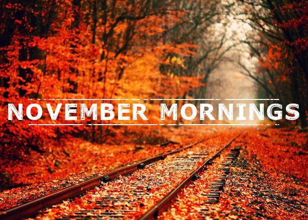November Mornings font by Chris Vile