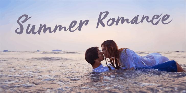 Image for DK Summer Romance font