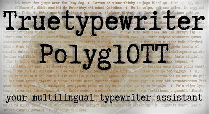 Image for Truetypewriter PolyglOTT font
