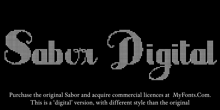 Image for Sabor Digital font