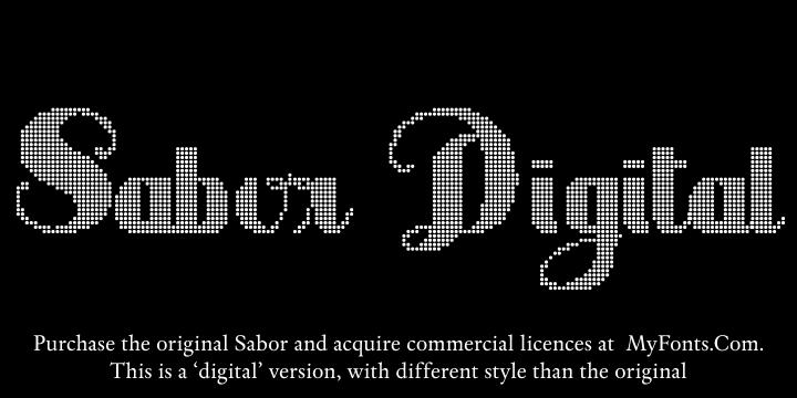 Sabor Digital font by Intellecta Design
