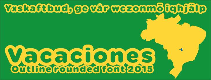 Image for Vacaciones font