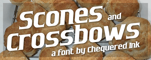 Image for Scones and Crossbows font