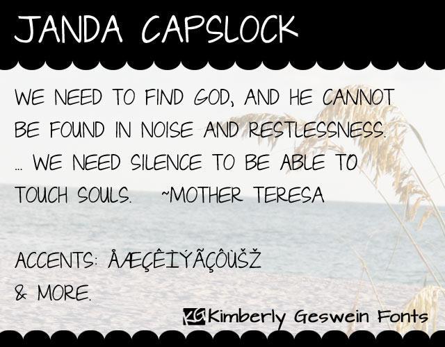 Image for Janda Capslock font