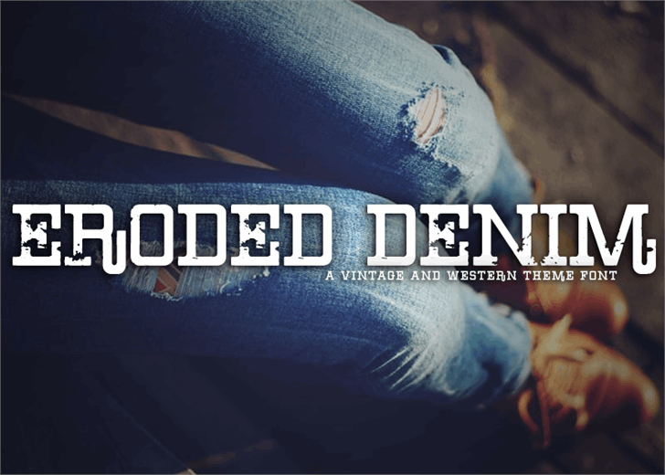 Image for Eroded Denim font