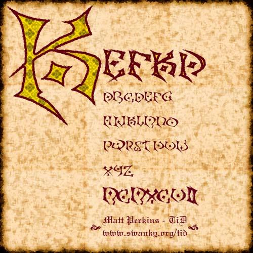 Kefka font by Typography in Decay