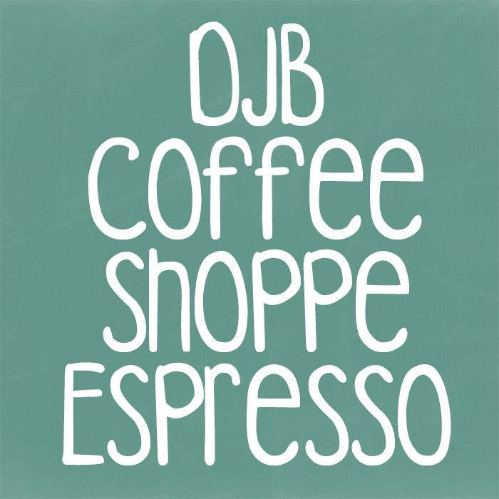 Image for DJB COFFEE SHOPPE ESPRESSO font