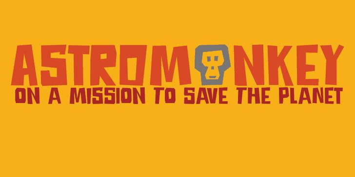 Image for DK Astromonkey font