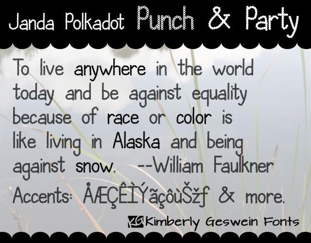 Image for Janda Polkadot Punch font