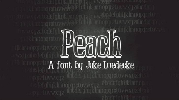 Image for Peach font