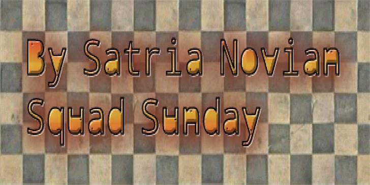 Squad Sunday font by elemental acts