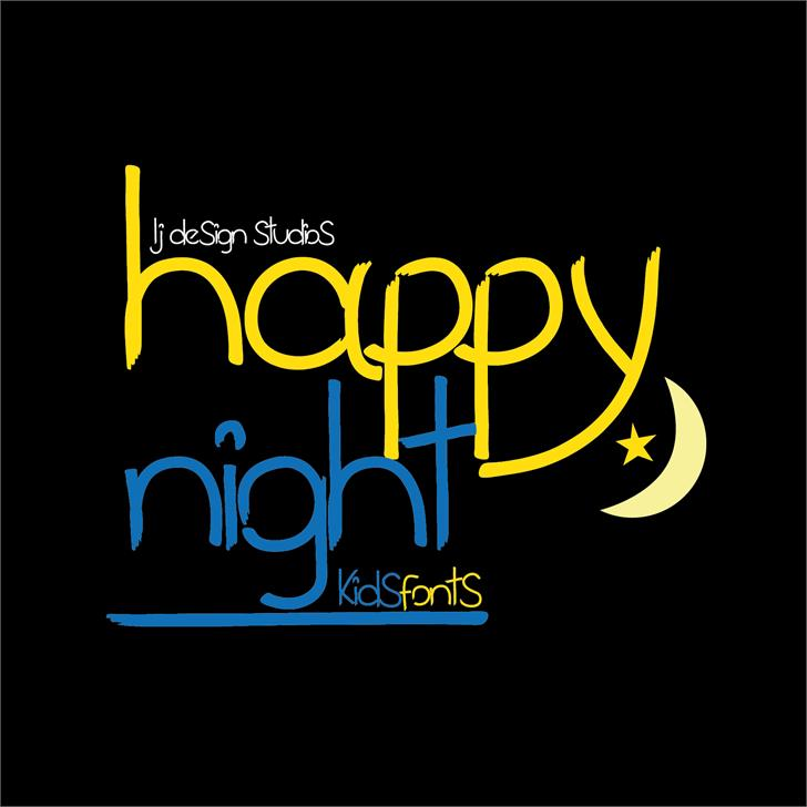 Image for happy night font