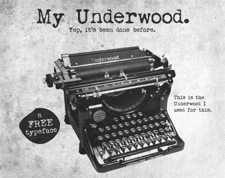 Image for My Underwood font